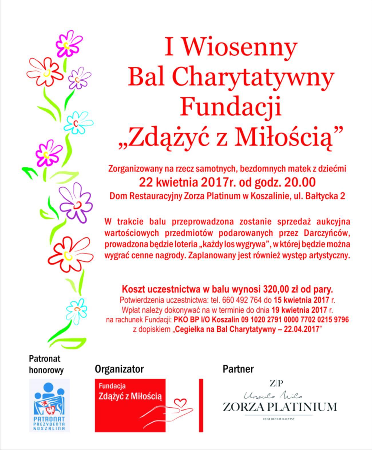 I Wiosennu Bal Charytatywny_plakat popr