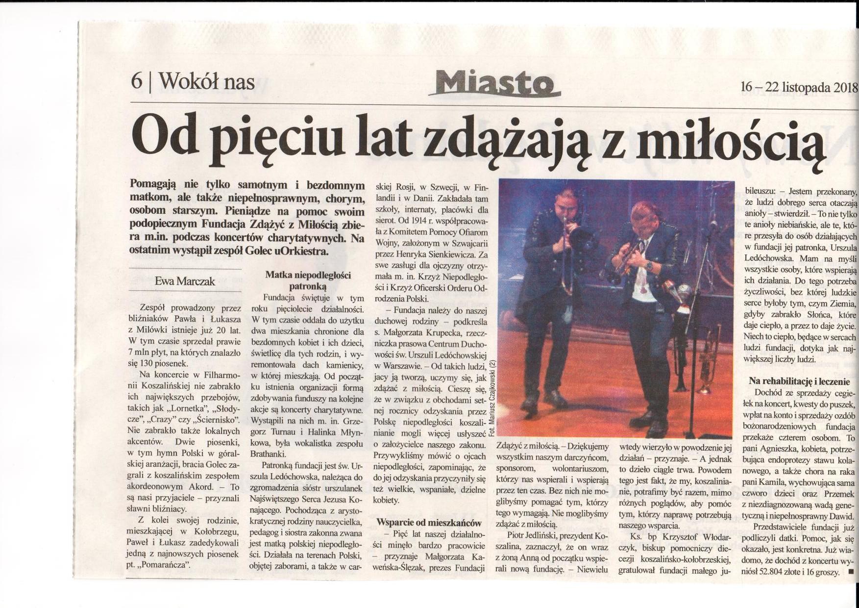 Tygodnik Miasto 16.11.2018r.